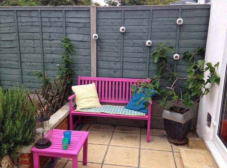 Fence Color Cuprinol Shades Sweet Sundae Painted Bench