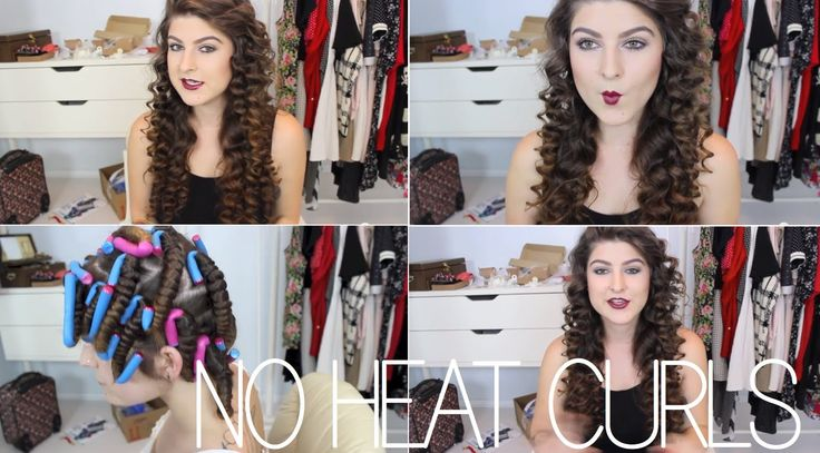 easy heatless curls! ☠ bouncy, voluminous and long lasting. (+playlist)