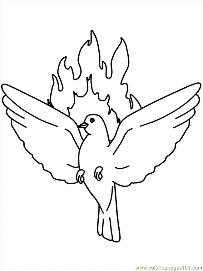 holy spiritdove and flame