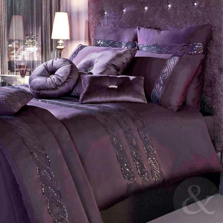 kylie minogue luxury cotton duvet cover satin sequin purple bedding bed set in home furniture u0026 diy bedding bed linens u0026 sets bedding sets u0026 duvet