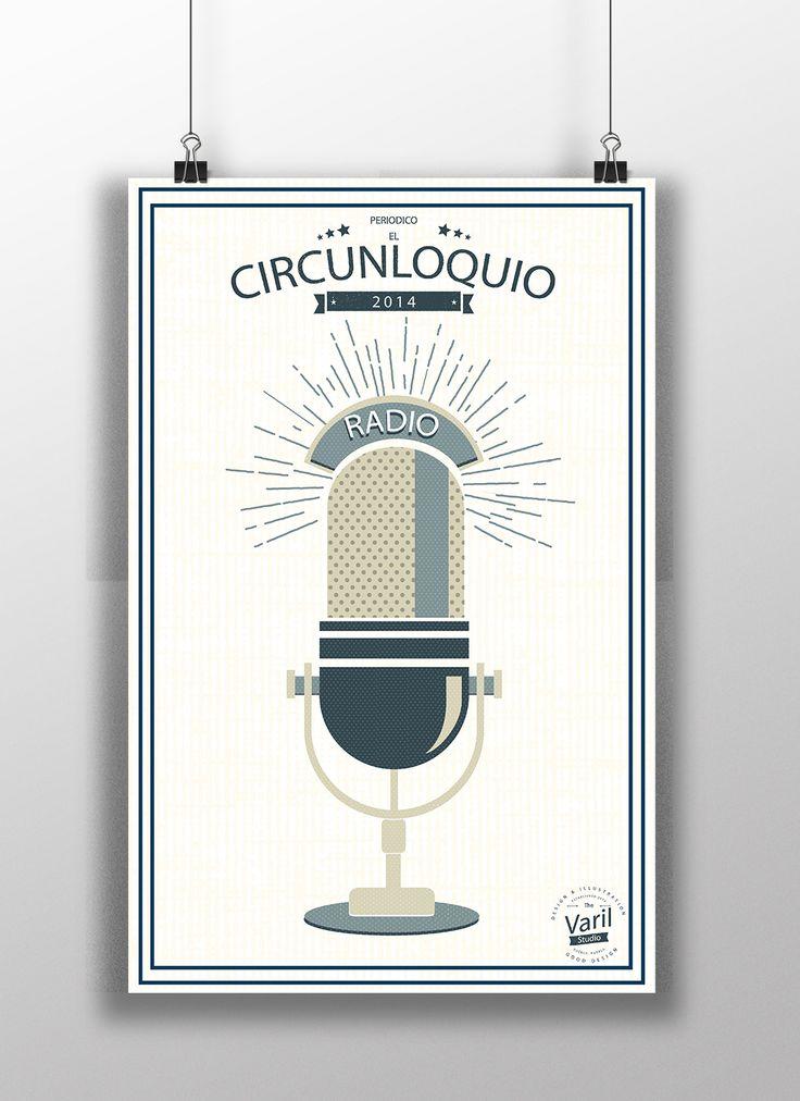 """""""Circunloquio""""  Cartel ilustrativo para la facultad de Filosofia y letras de la Universidad Autónoma De Puebla (BUAP), Presentación tesis de periodismo y comunicación, Plataforma: illustrator  y Photoshop"""