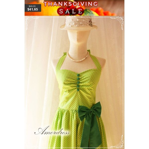 Thanksgiving SALE Green Dress Green Party Dress Fancy Circus Dress... ($42) ❤ liked on Polyvore featuring dresses, bridesmaid dresses, beige bridesmaid dresses, vintage style summer dresses, vintage style bridesmaid dresses and fancy dress