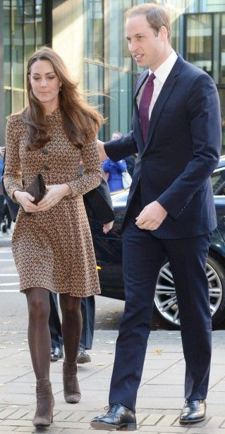 19 November 2013 - William and Kate visit the Only Connect Charity Headquarters in London