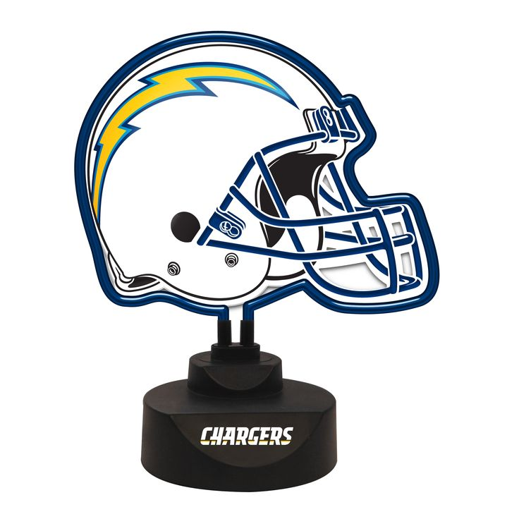 San Diego Chargers Furniture: NFL San Diego Chargers Helmet Neon Desk Lamp