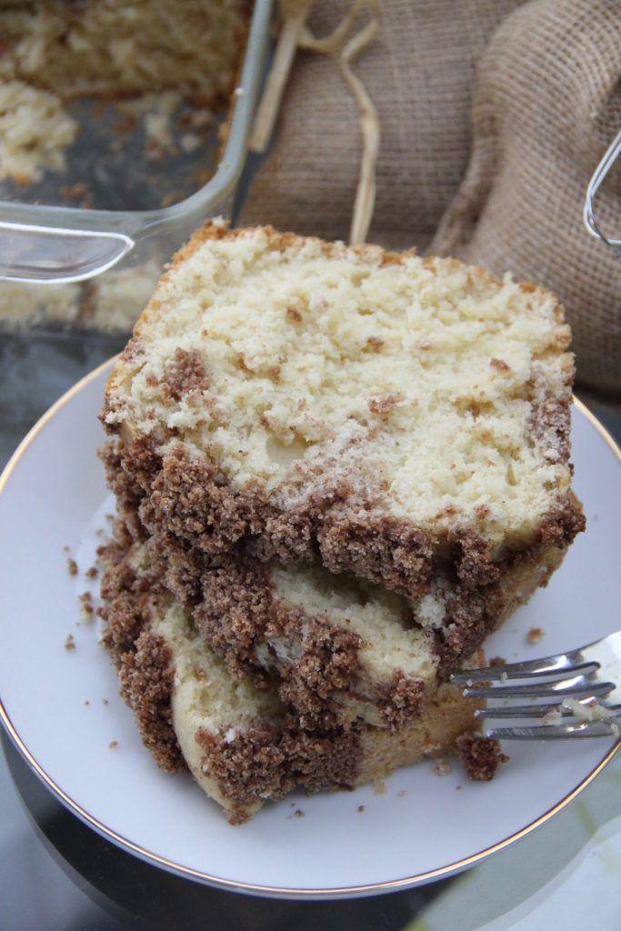 Skinny Cinnamon Crumble Coffee Cake by Skinny Girl Standard, only 200 calories per slice.