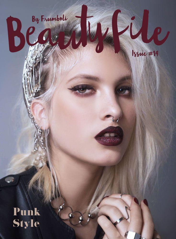 Estilo punk, looks de maquillaje con una estética provocadora.  Siguiendo esta tendencia, Bettina Frúmboli ideó versiones actuales inspiradas en la rebeldía rockera.