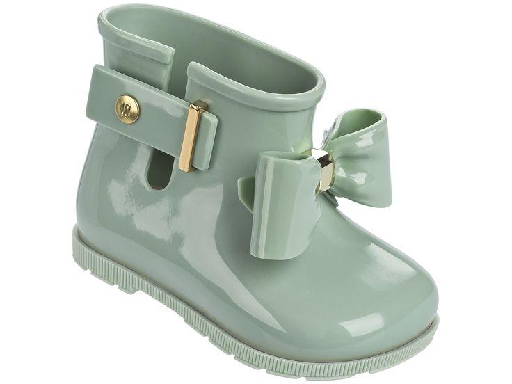 Mini Melissa Sugar Rain Bow Rain Boots - Baby Green
