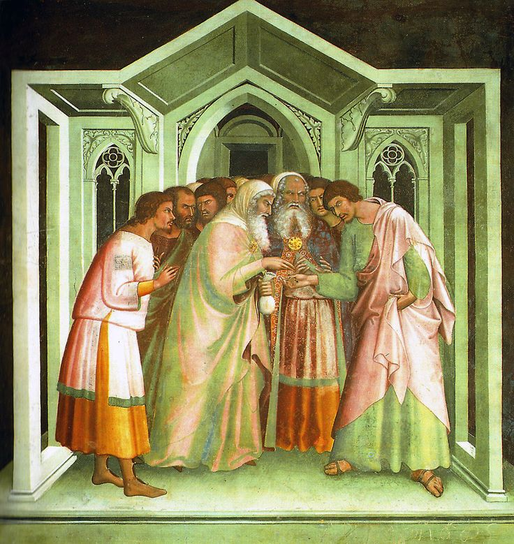 Bargain of Judas, fresco by Lippo Memmi, 14th century.