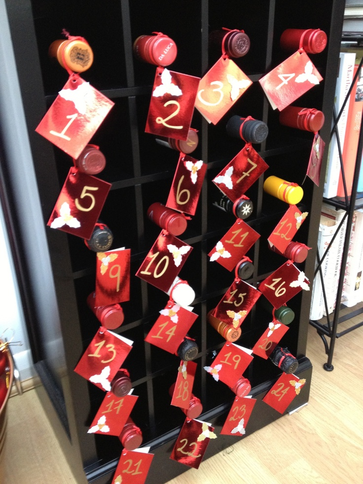 Wine bottle advent calendar advent the final countdown - Pinterest advent ...