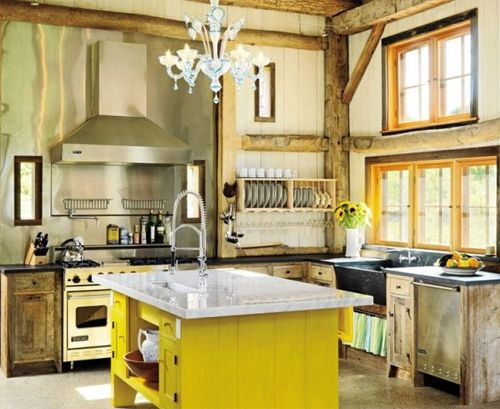 Zwart Witte Keukentegels : Rustic French Country Kitchen Ideas