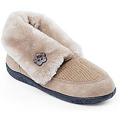 Padders - Camel 'Padders Eden' womens memory foam slippers