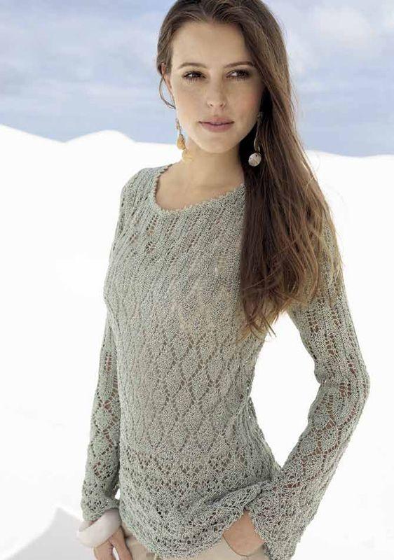 Lana Grossa AJOURPULLI Secondo - FILATI No. 41 (Sommer 2011) - Modell 1 | FILATI.cc WebShop