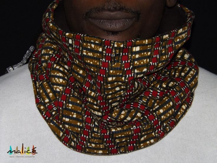 Snood wax polaire marron