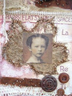 Fabric collage by Dorthe of Den Lille Lade: AN AUTUMN COLLAGE