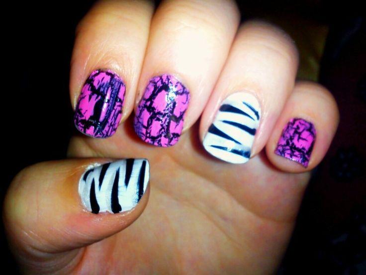 Black/Pink/Crackle Paint/Zebra