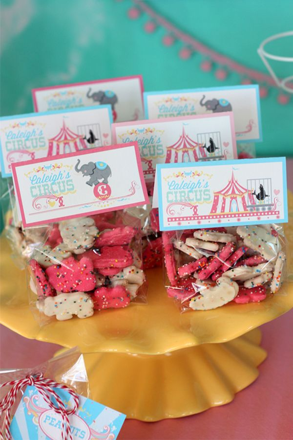 Pink, yellow and aqua cotton candy girl circus birthday party printables and birthday party ideas