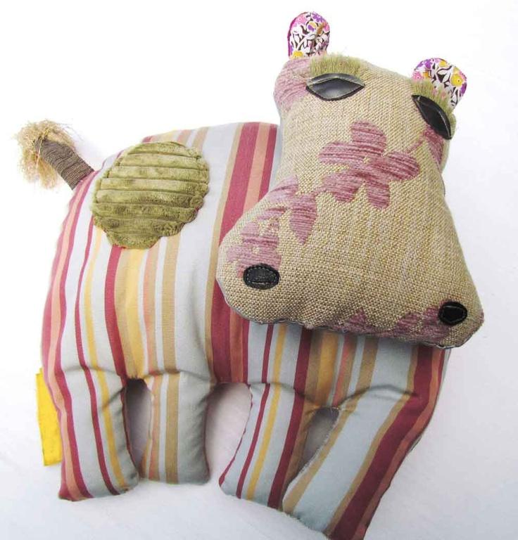 Handmade Hippo Cub Plush Toy #plushtoys #handmade