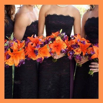 The first bouquet's I have found that incorporate tiger lilies and purple flowers :)