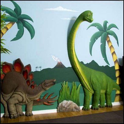 1000 ideas about dinosaur room decor on pinterest for Dinosaur mural ideas