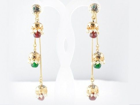 Polki Earring   Product Code : PE-53  Price : 1200  Buy Now : http://bit.ly/169vRpw  You Can also call at +91 9748346461 to order this exclusive polki earring from Saakshijewellery.