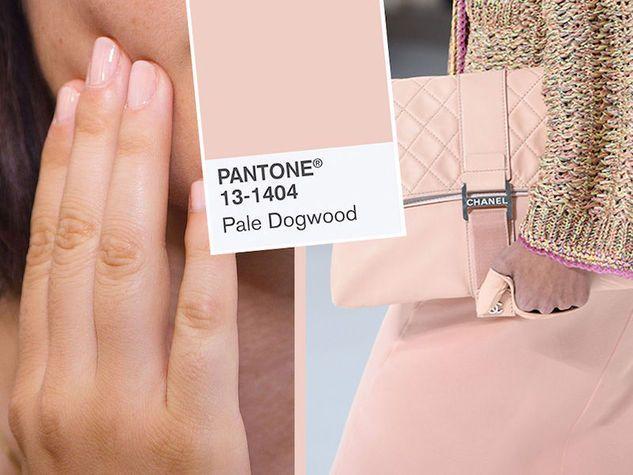 Pantone Pale Dogwood 13-1404 TPX, il rosa pallido del 2017. Nella foto, backstage e sfilata Chanel.