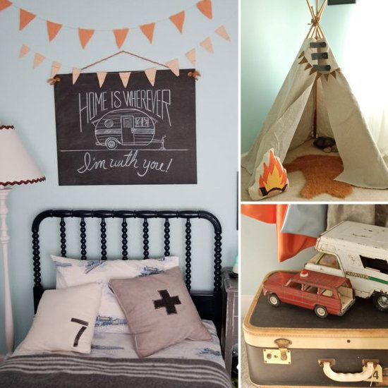 vintage camping inspired room. reminds me of Moonlight Kingdom