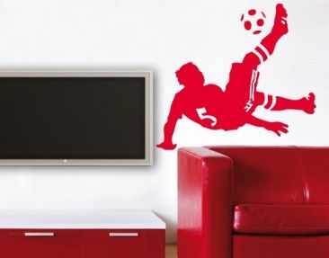 Product picture Wall Decal No.UL482 Soccer Bicycle Kick