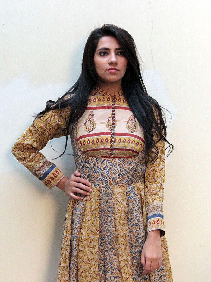 Pattabuti Chanderi Kalidar Dress