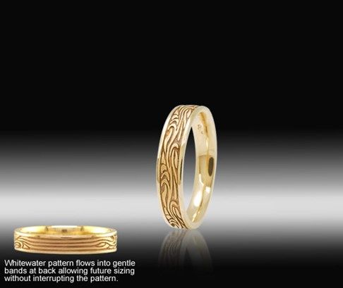Whitewater Wedding Band For Both Men And Women