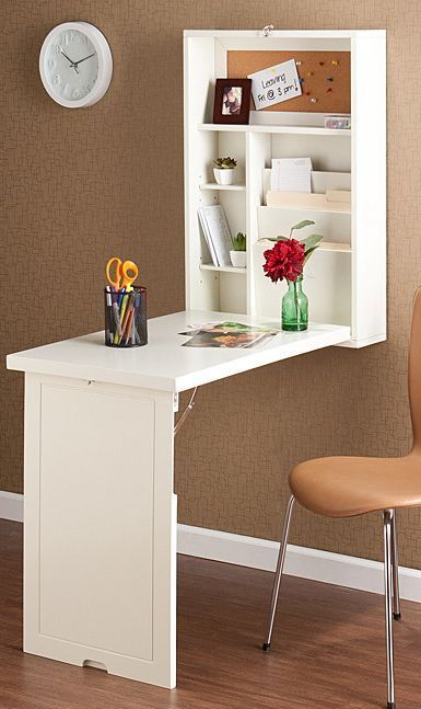fold out desk [id add a mirror, or painting to the front panel for when its closed.]