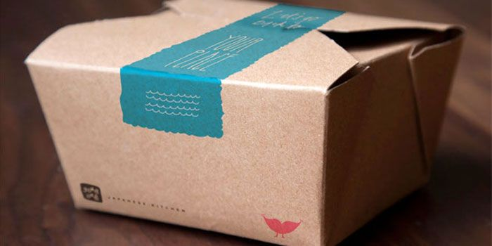 Packaging for amade-to-order Japanese kitchen in Gainesville, Florida.