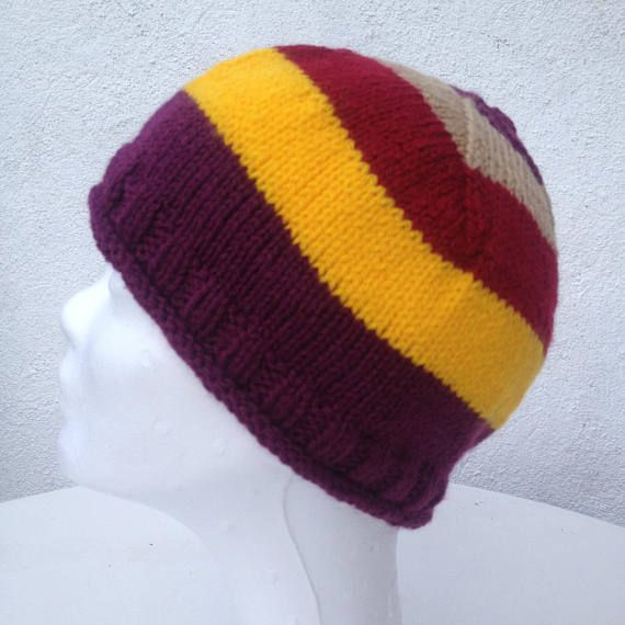 Knitted beanie Multicolor Knitted Hat Autumn Hat woodland
