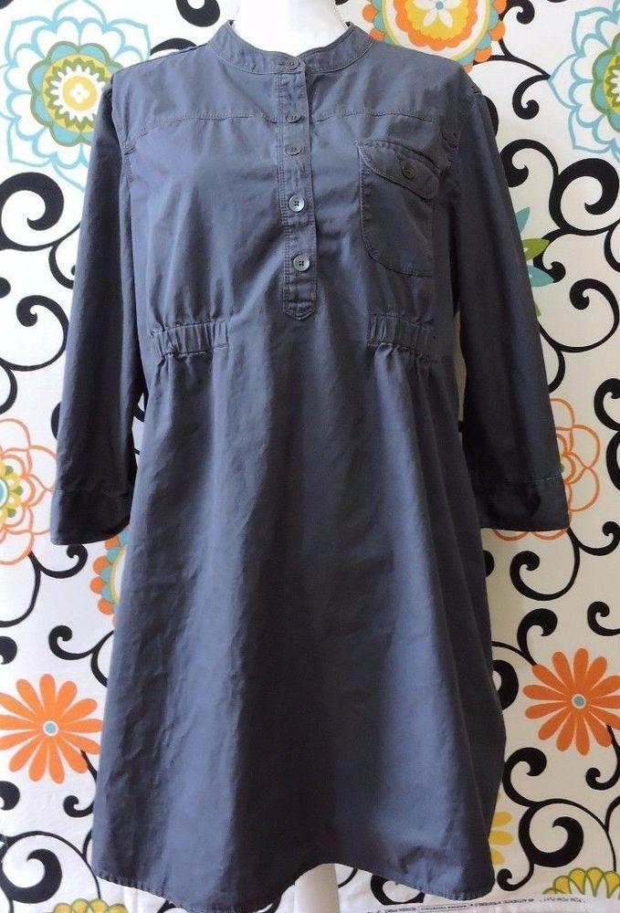 Gap Maternity Women Grey Shirt Dress Size XL #Gap #ShirtDress