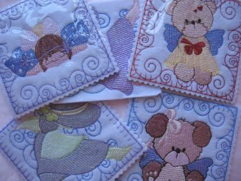 Value Pack: Mylar Quilt Blocks Add extra sparkle to gifts and quilts! This Value Pack of Mylar Quilt Blocks stitch out super fast! Use mylar 'colouring' of your choice. These would make gorgeous nursery quilts and add some 'twinkle'! Mylar is super easy to use. No more mess and fuss with glitter glues. These designs have been digitized so that the mylar can 'twinkle' through the stitching! http://tinyurl.com/hf9fsna