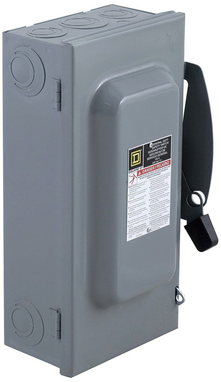 Square D By Schneider Electric Du323 100 Amp 240 Volt 3 Pole Non Fusible Indoor General Duty Safety Switch Check Out This Safety Switch Indoor Electricity
