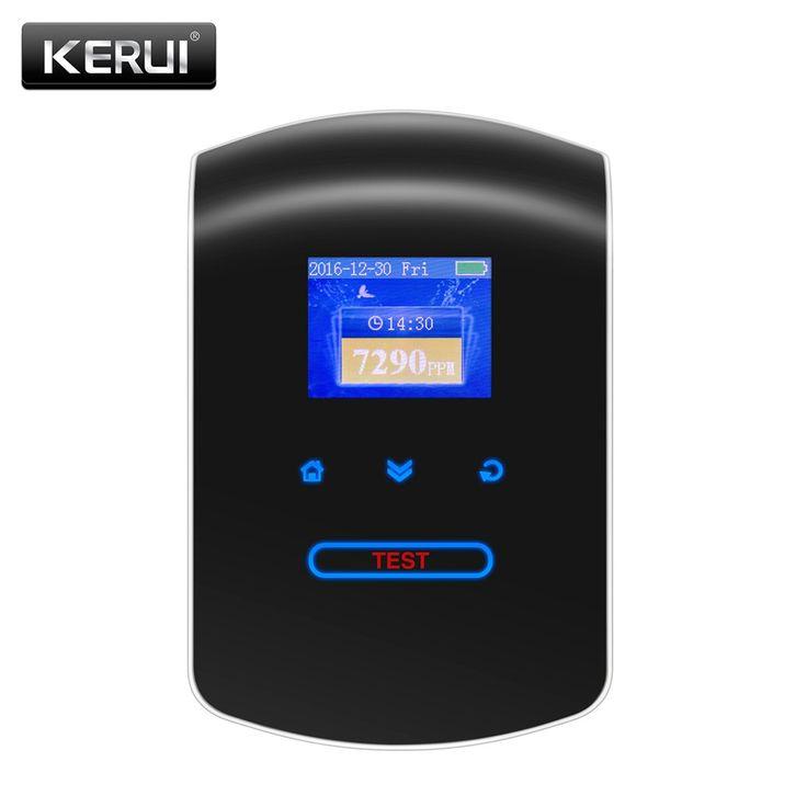 2017 KR-GD23 Dapur Rumah Keamanan Mudah Terbakar Gas Detector LPG LNG Batubara Gas Alam Kebocoran Alarm Jam Sensor Dengan Suara Peringatan