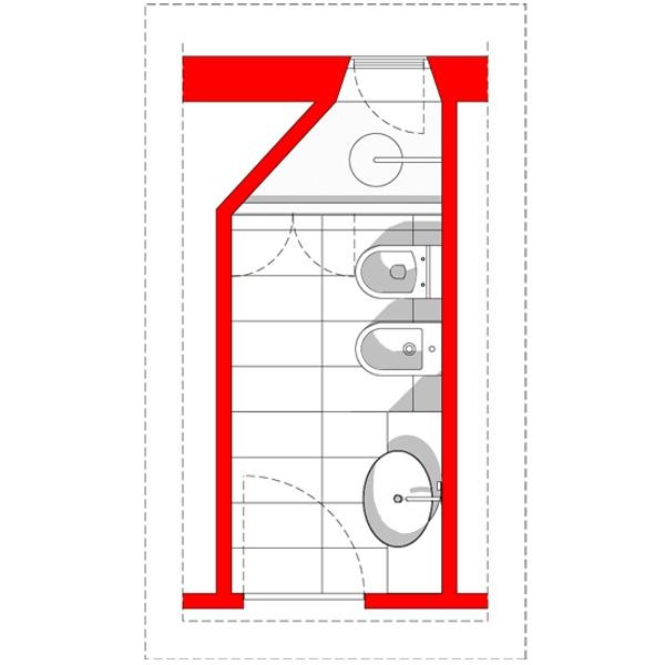 Immagine 376 galleria bagno lungo e stretto step 02 - Progetto bagno lungo e stretto ...