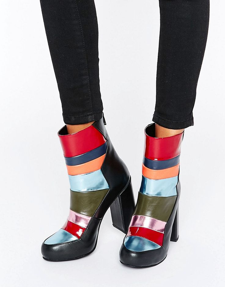 Sweet! House of Holland Patchwork Heeled Ankle Boots