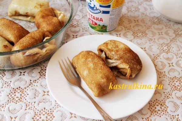 блины с мясом и сельдереем с пошаговыми фото