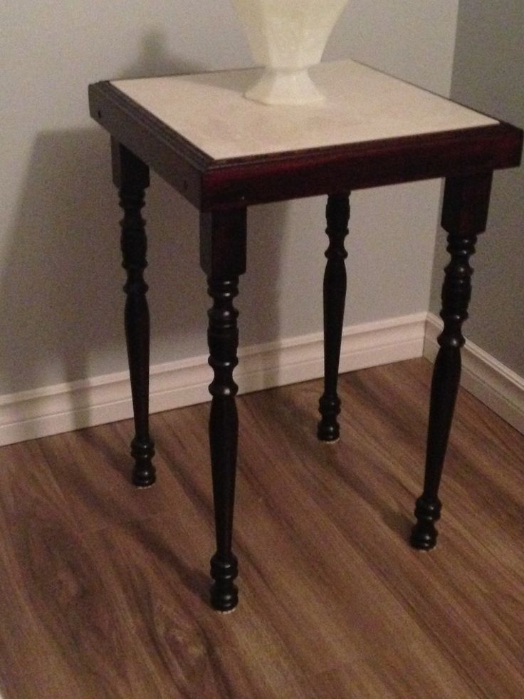 small end table with ceramic top, contact firebrushkev@gmail.com