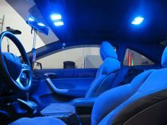 Blue LED Interior Package For 2013 - 2014 Honda ACCORD Coupe Sedan 9th Gen 6pcs