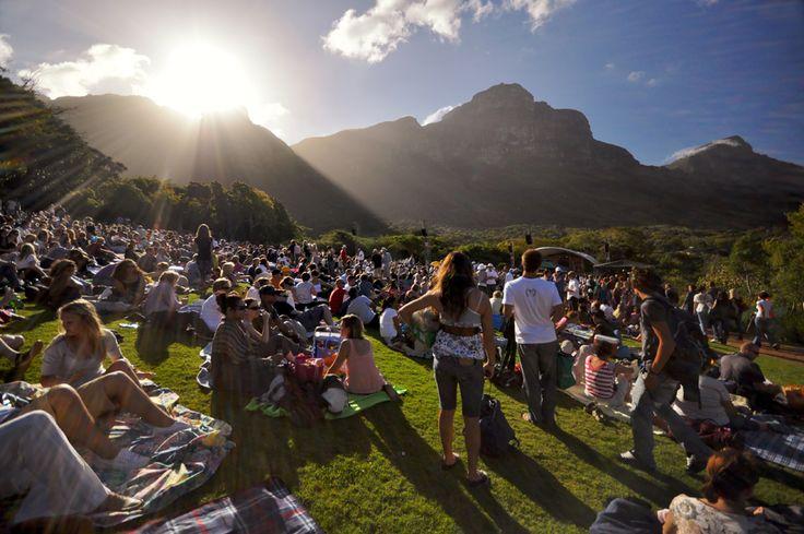 Summer concerts at Kirstenbosch Gardens, Cape Town, South Africa