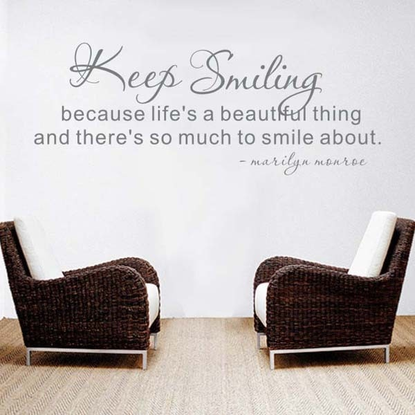 warm home decor english quote removable wall sticker - Home Decor Quotes