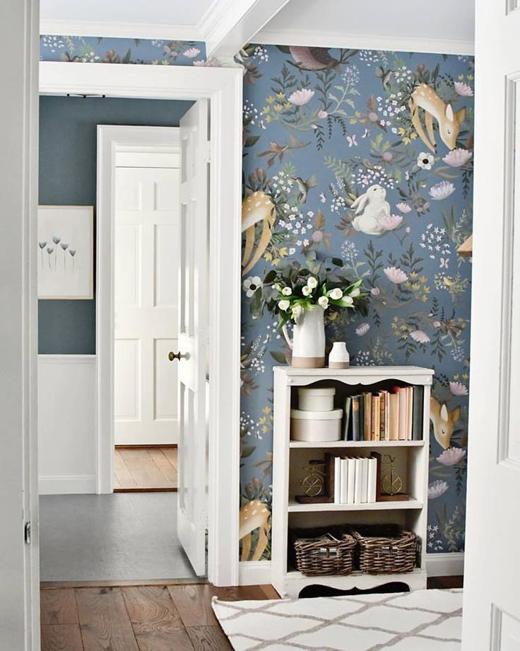 OH Deer Wandbild – Forest Bunny Scene Wallpaper, Gartenszene