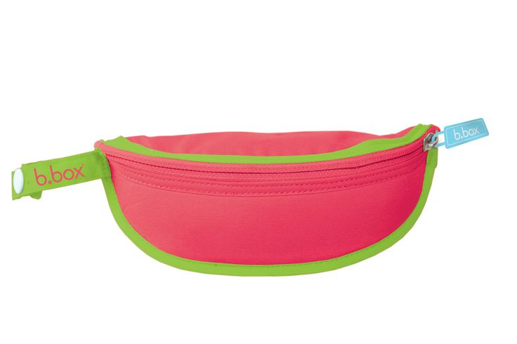 simply pop the spoon inside, fold bib back inside catcher, zip and go.