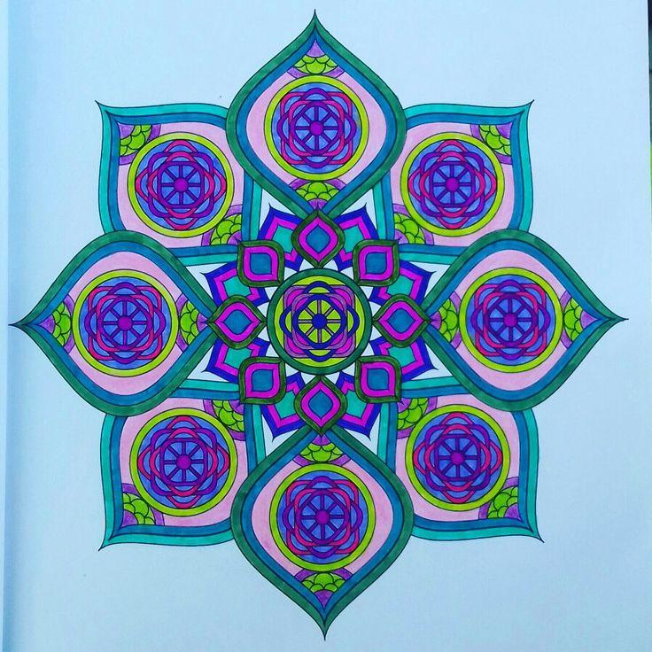 Week 59, mandala design vol. 2 by Jenean Morrison coloured by Artemis Anapnioti.