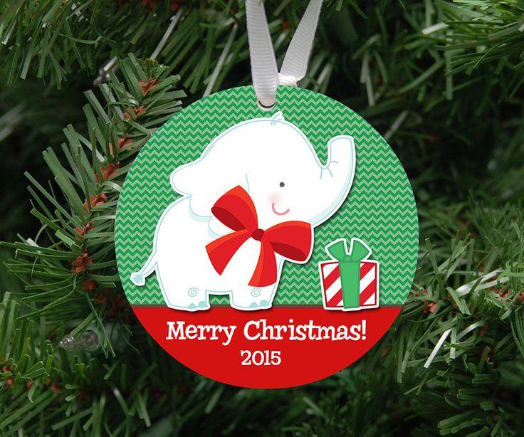 Personalized White Elephant Gift Ornament Keepsake - Custom Made to Order by DesignsLM on Etsy