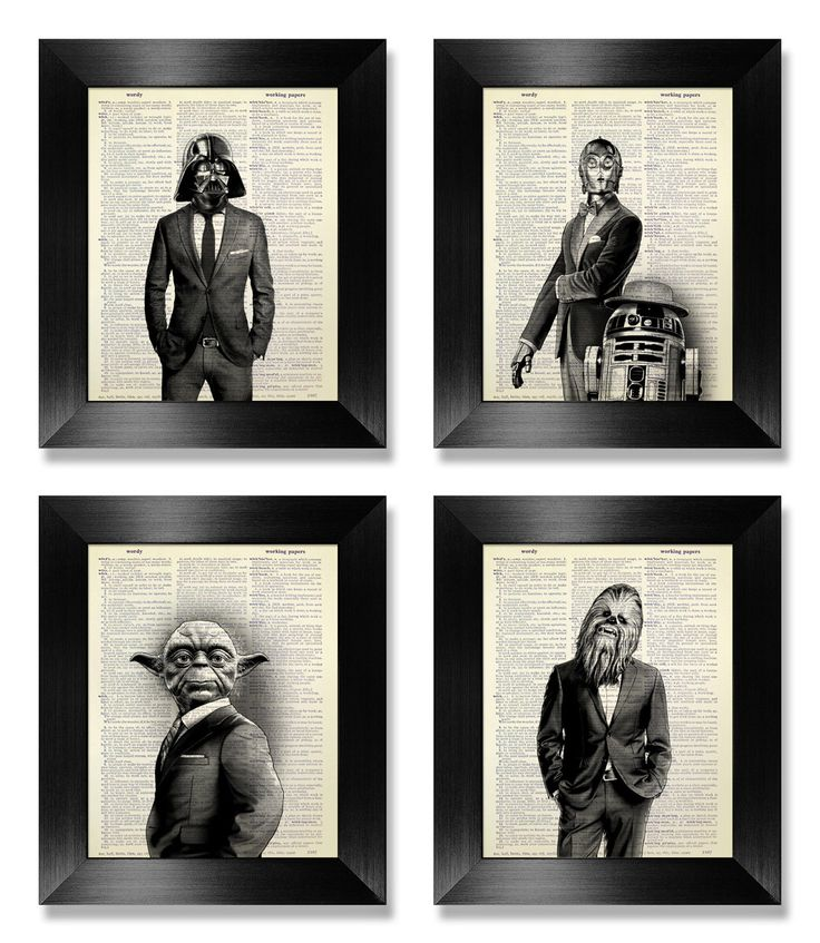 Office Wall Art Set of Prints, Star Wars Art Print Set, Dictionary Art Print Set of 4 Prints, Cool Man Gift for Boyfriend Gift, Movie Poster by MEOWconcept on Etsy https://www.etsy.com/listing/229343038/office-wall-art-set-of-prints-star-wars