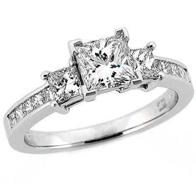 princess cut engagement rings - Google Search