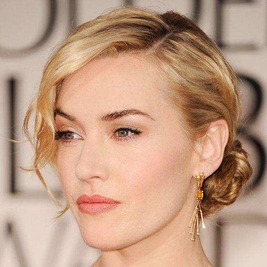 warm peach wedding day makeup | Kate Winslet Makeup